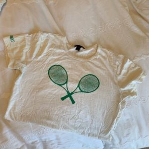 j crew racket graphic t